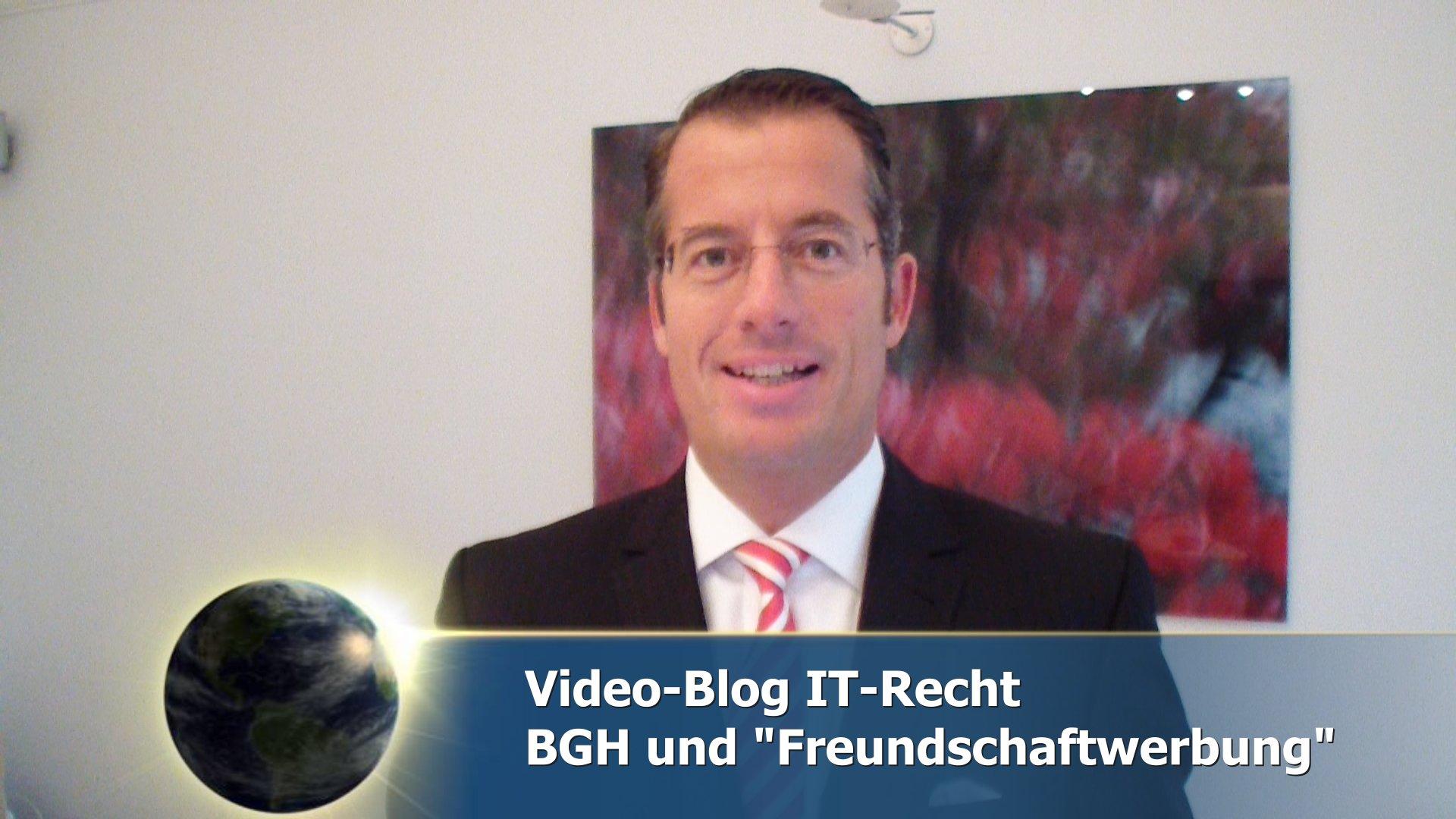 Freundschaftswerbung im Internet / BGH Tell-a-friend